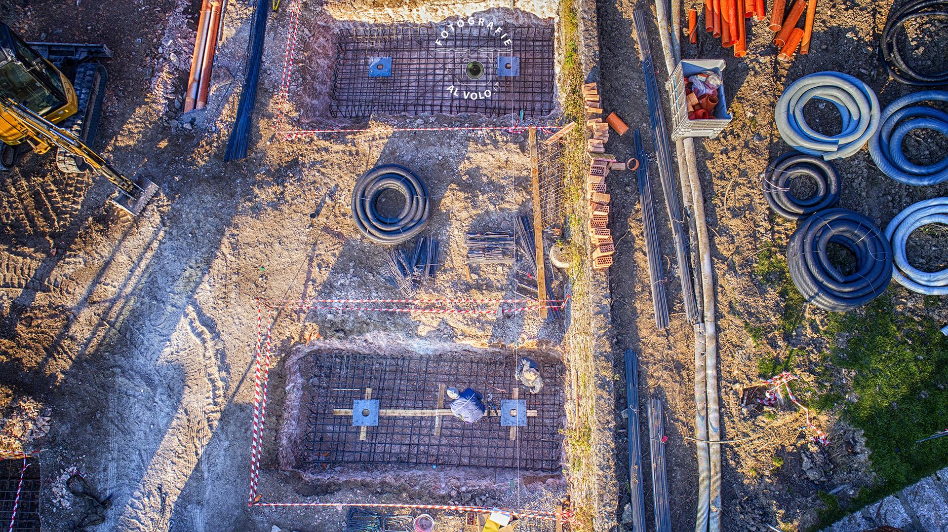 Fotografie Al Volo - Monitoraggio cantiere edile - stato d'avanzamento cantiere con drone