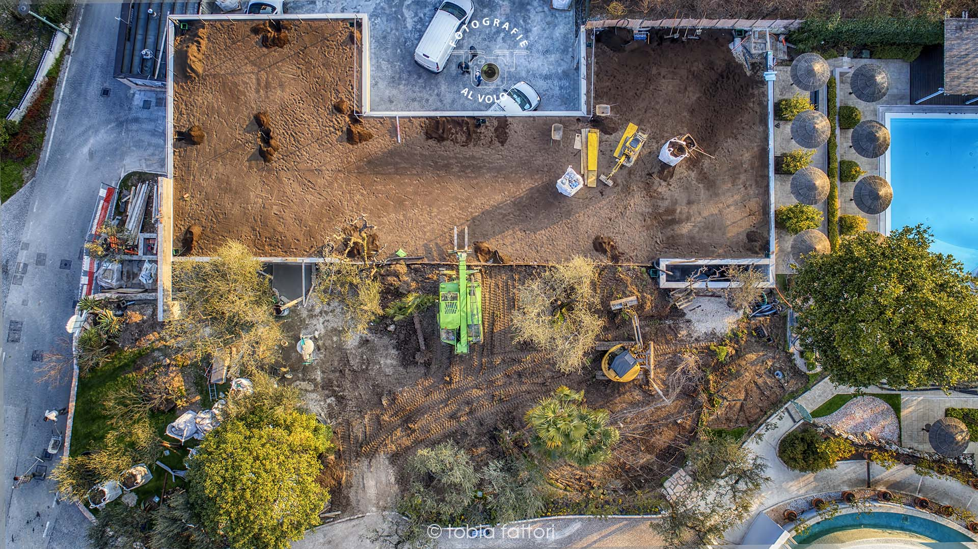 Fotografie Al Volo - Monitoraggio cantiere edile - stato d'avanzamento cantiere con drone - realizzazione solaio post-teso